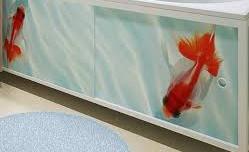 Установка нашего экрана под ванну